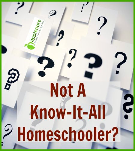 not a know it all homeschooler