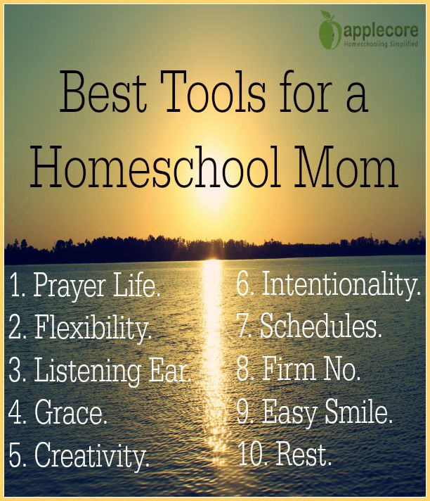 best tools for a homeschool mom