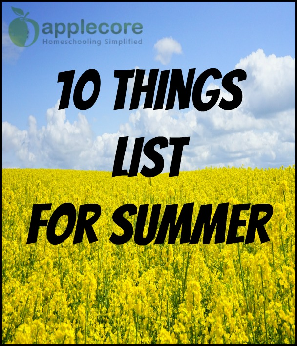 10 things list for summer